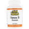 Natural Factors, Stress B Formula, Plus 1000 mg Vitamin C, 90 Tablets
