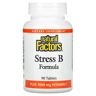 Natural Factors, Stress B Formula,外加 1000 毫克維生素 C,90 片