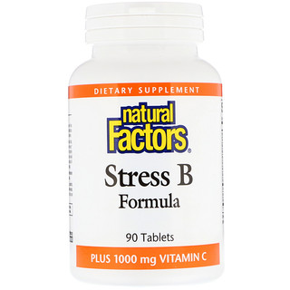 Natural Factors, Stress B Formula, Plus 1000 mg Vitamin C, 90 Tablets