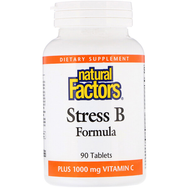Natural Factors, Stress B Formula, Plus 1000 mg Vitamin C, 90 Tablets (Discontinued Item)