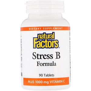 Натурал Факторс, Stress B Formula, Plus 1000 mg Vitamin C, 90 Tablets отзывы покупателей