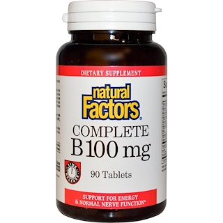 Natural Factors, Complete B, 100 mg, 90 Tablets