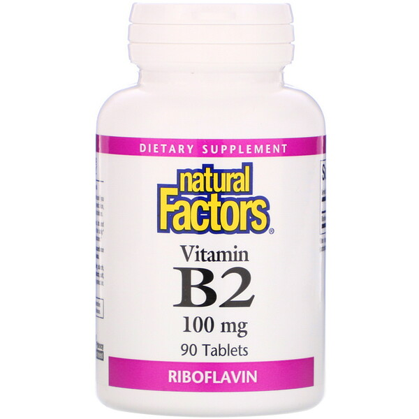 Natural Factors, Vitamin B2 Riboflavin, 100 mg, 90 Tablets