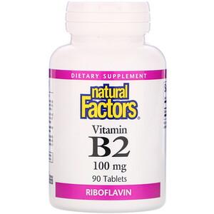 Натурал Факторс, Vitamin B2, Riboflavin, 100 mg, 90 Tablets отзывы покупателей