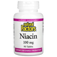 Natural Factors, 煙酸,100 毫克,90 片