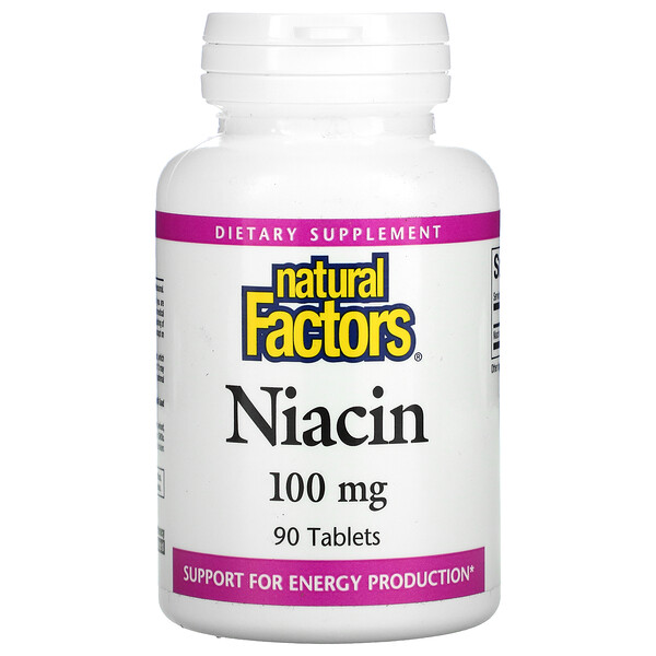 Natural Factors, Niacin, 100 mg, 90 Tablets