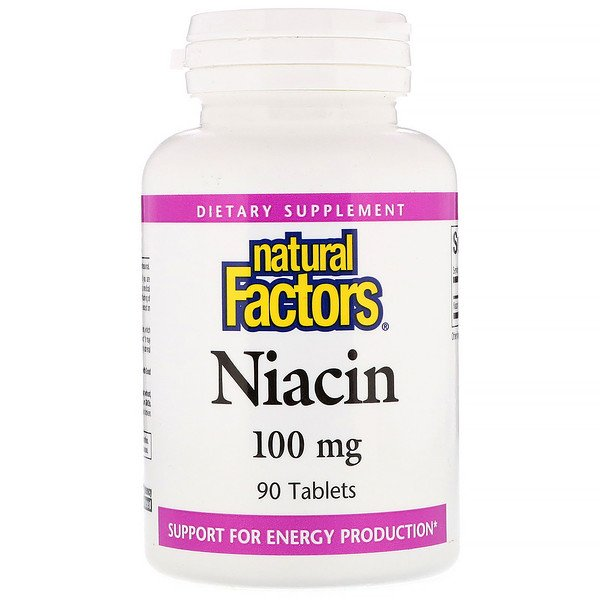 Niacin, 100 mg, 90 Tablets