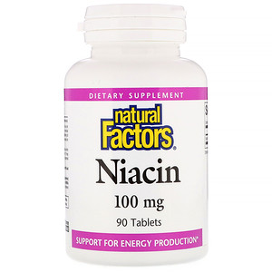 Натурал Факторс, Niacin, 100 mg, 90 Tablets отзывы покупателей
