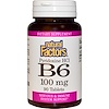 Natural Factors, B6, Pyridoxine HCl, 100 mg, 90 Tablets