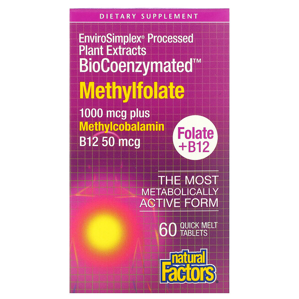 BioCoenzymated, Methylfolate, 1,000 mcg, 60 Quick Melt Tablets
