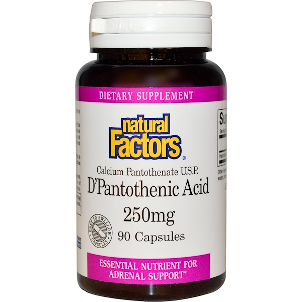 Natural Factors, D'Pantothenic Acid, 250 mg, 90 Capsules (Discontinued Item)