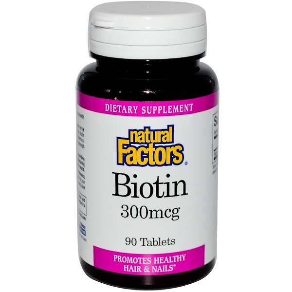 Natural Factors, Biotin, 300 mcg, 90 Tablets