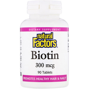 Натурал Факторс, Biotin, 300 mcg, 90 Tablets отзывы покупателей