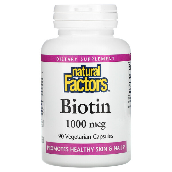 Natural Factors, Biotin, 1000 mcg, 90 Vegetarian Capsules