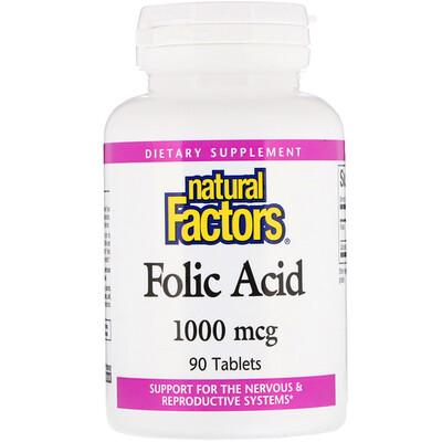 Купить Фолиевая кислота, 1000 мкг, 90 таблеток