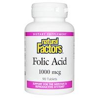 Фолиевая кислота, 1000 мкг, 90 таблеток - фото