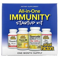 Natural Factors, All-In-One Immunity Startup Kit, 4 Piece Kit