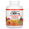 Natural Factors, Fruit-Flavor Chew, Vitamin C, Peach, Passionfruit and Mango, 500 mg, 90 Chewable Wafers