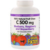 Natural Factors, 100% Natural Fruit Chew Vitamin C, Blueberry, Raspberry and Boysenberry, 500 mg, 180 Chewable Wafers