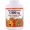 Natural Factors, 100% Natural Fruit Chew C, Tangy Orange Flavor, 500 mg, 180 Chewable Wafers
