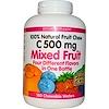 Natural Factors, C 500 mg, Mixed Fruit, 180 Chewable Wafers