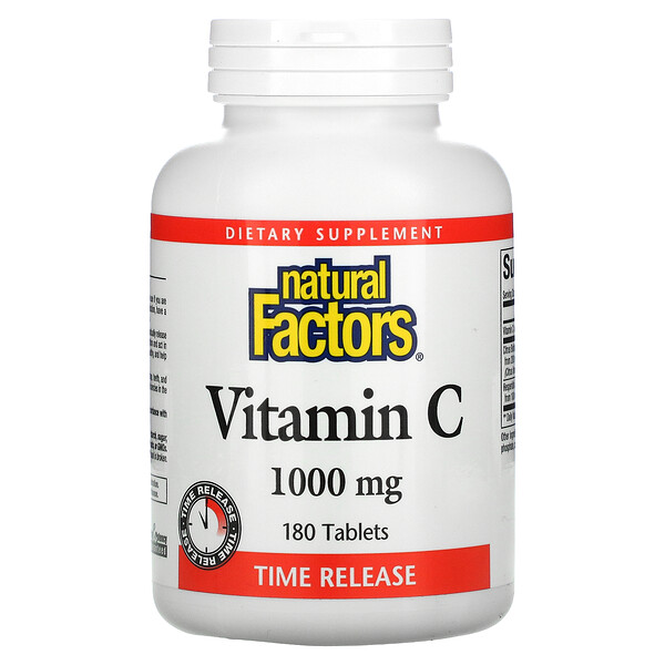 Vitamin C, Time Release, 1,000 mg, 180 Tablets