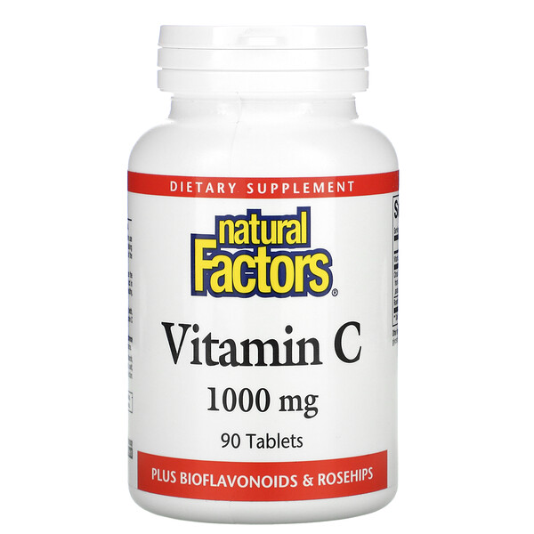 Vitamin C, Plus Bioflavonoids & Rosehips, 1,000 mg, 90 Tablets