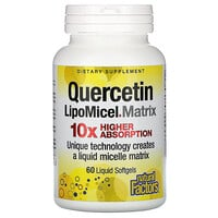 Natural Factors, Quercetin LipoMicel Matrix, 60 Liquid Softgels