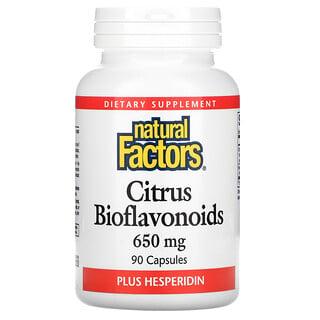 Natural Factors, Citrus Bioflavonoids Plus Hesperidin, 650 mg, 90 Capsules