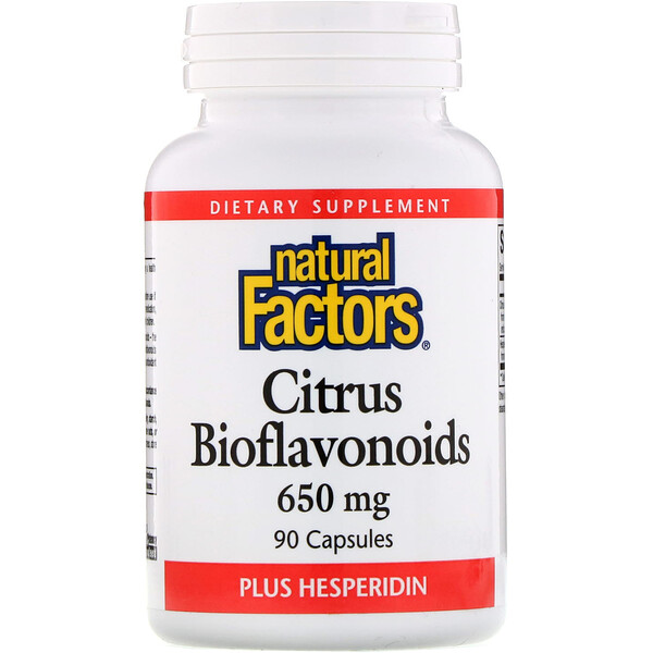 Natural Factors, Citrus Bioflavonoids Plus Hesperidin, 650 mg, 90 Capsules
