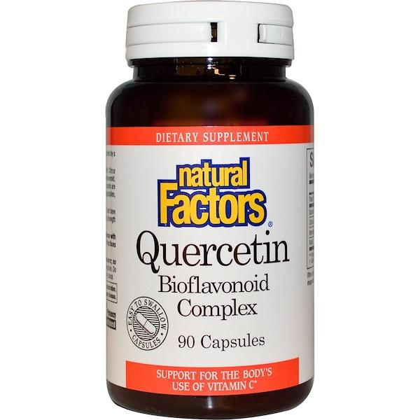 Natural Factors, Quercetin, Bioflavonoid Complex, 90 Capsules
