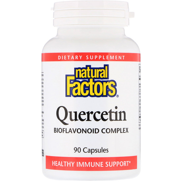 Natural Factors, Quercetin, Bioflavonoid Complex, 90 Capsules (Discontinued Item)