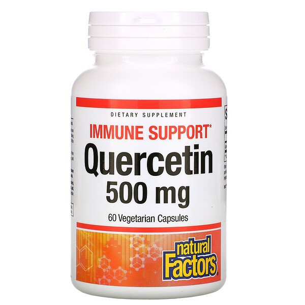 Natural Factors, Quercetin, 500 mg, 60 Vegetarian Capsules