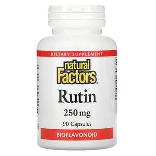 Natural Factors, 蘆丁,250 毫克,90 粒膠囊