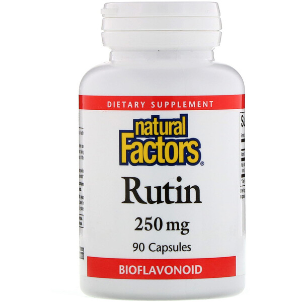 Natural Factors, Rutina, 250 mg, 90 cápsulas