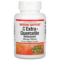 Natural Factors, C Extra + Quercetin, 60 Easy Swallow Capsules
