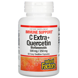 Natural Factors, C Extra + Quercetin, 60 Easy Swallow Capsules