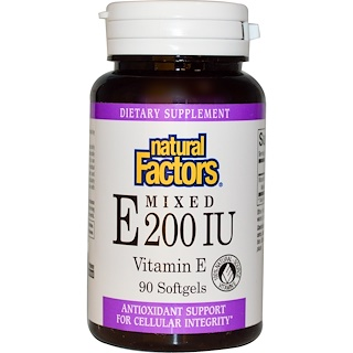 Natural Factors, Mixed E, 200 IU, 90 Softgels