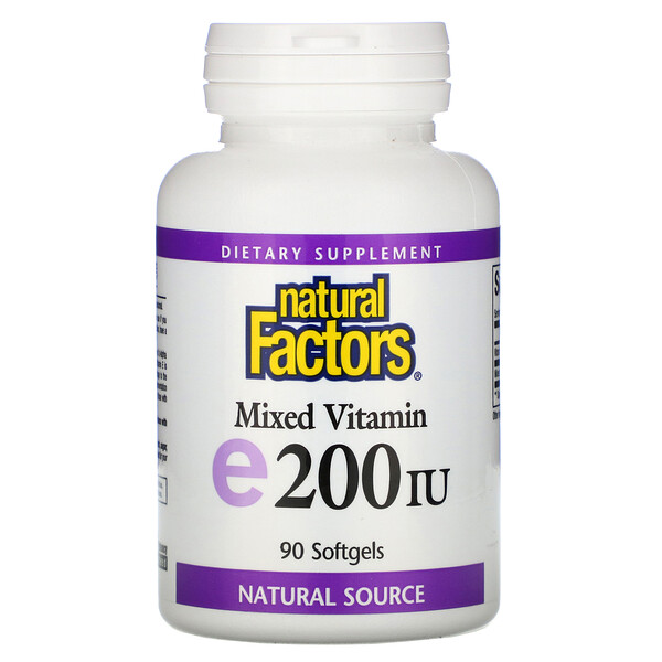 Mixed Vitamin E, 200 IU, 90 Softgels