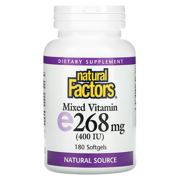 Mixed Vitamin E, 268 mg (400 IU), 180 Softgels