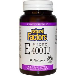 Натурал Факторс, Mixed E, 400 IU, 180 Softgels отзывы покупателей