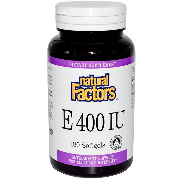 Natural Factors, E 400 IU, 180 Softgels (Discontinued Item)