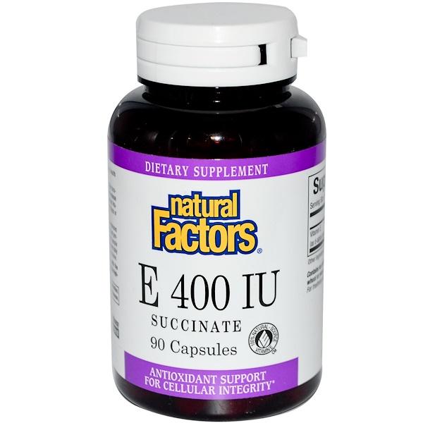 Natural Factors, E 400 IU, Succinate, 90 Capsules (Discontinued Item)