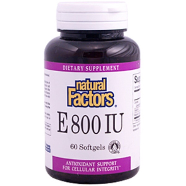 Natural Factors, E 800 IU, 60 Softgels (Discontinued Item)