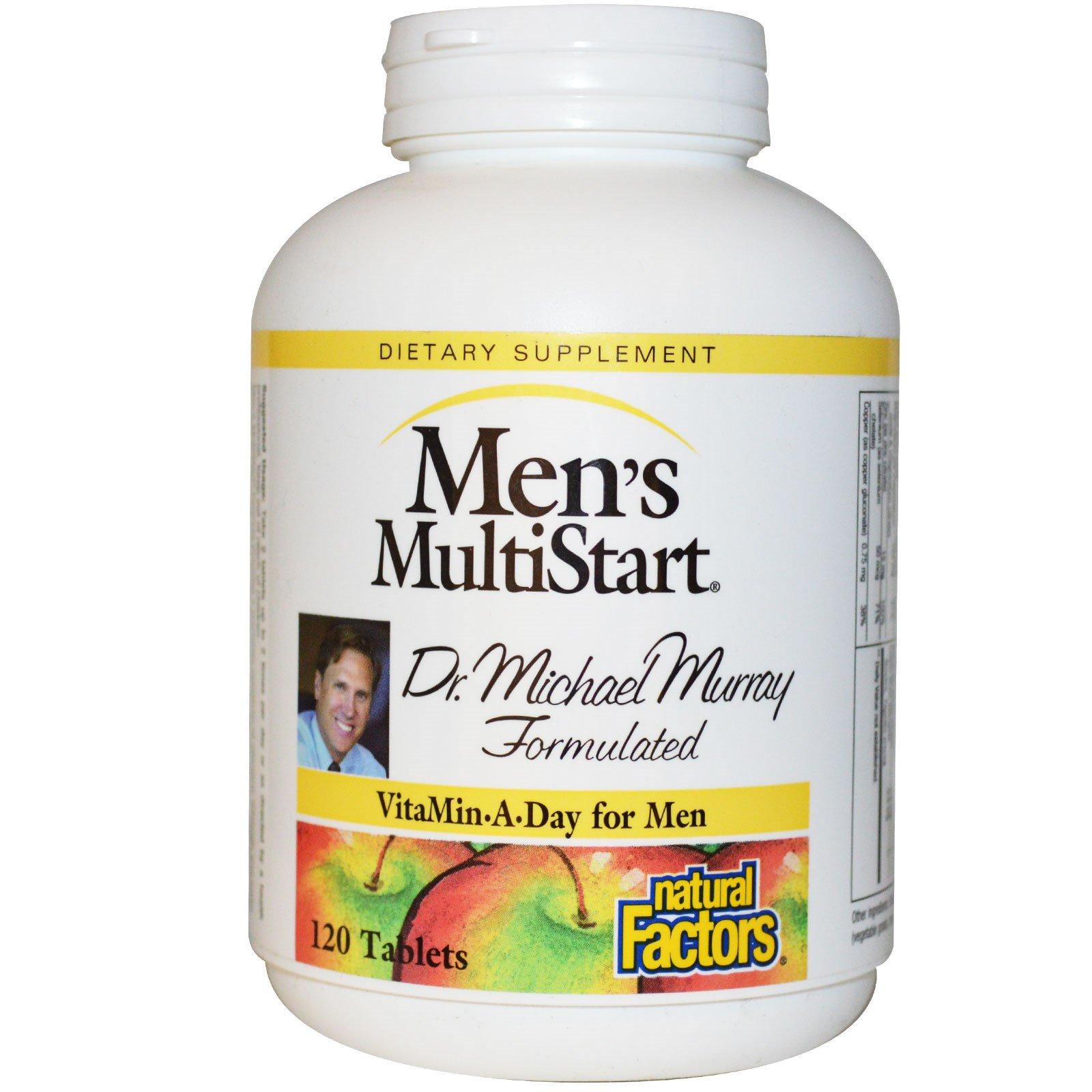 Natural Factors, МультиСтарт для мужчин, дневная порция витаминов для мужчин, 120 таблеток