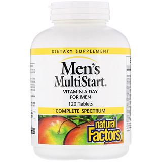 Natural Factors, ملتي ستارت للرجال، فيتامين أ للرجال، 120 حبة