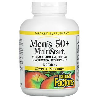 Natural Factors, MultiStart para Homens com Mais de 50, 120 Comprimidos