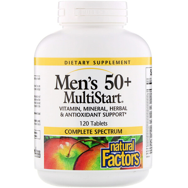 Natural Factors, Men's 50+ MultiStart, 120 Tablets