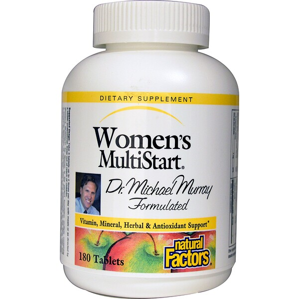Natural Factors, Women's MultiStart, 180 Tablets (Discontinued Item)