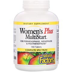 Natural Factors, Women's Plus MultiStart,180 片